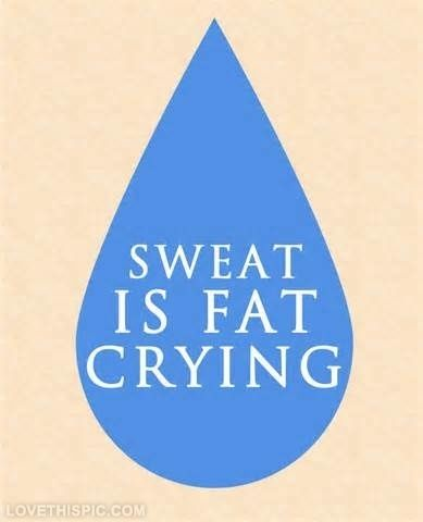 LOL! Love this poster! Sweat is fat crying fitness workout workout poster workout motivation motivation #health #fitness #workout #gym #diabetes #type1 #type2 #blog