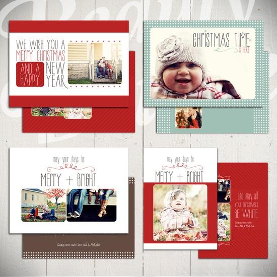 Christmas Card Templates: White Christmas #christmascard