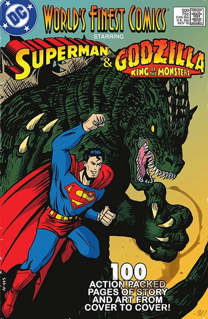 Worlds Finest - Superman & Godzilla by -U!, via Flickr