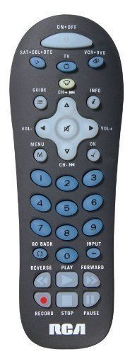 RCA RCRF03BR 3 Device Remote with Flashlight (Char Gray) by RCA. $11.37. RCA 3 Device remote controls are easy to program and easy to use, with a variety of designs and form factors to suit different environments or preferences. These remotes are carefully engineered to put keys where you'd expect, making them a comfortable fit for replacing or consolidating your original remotes. And RCA 3 device remotes are among the first designed specifically for digital