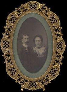 Wedding Photo of Joseph and Helen Cooper #genealogy #familyhistory