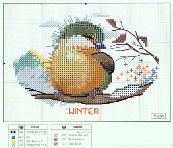 l'oiseau d'hiver