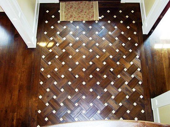 crazy floor! (black walnut) Love the woven pattern.  Amazing for my hallway?