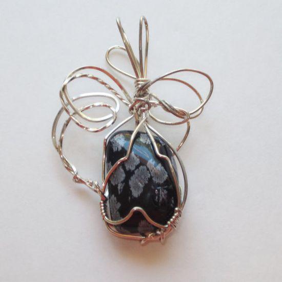 wire wrapped jewelry handmade jewelry by GalleryArtAndGifts, $22.00