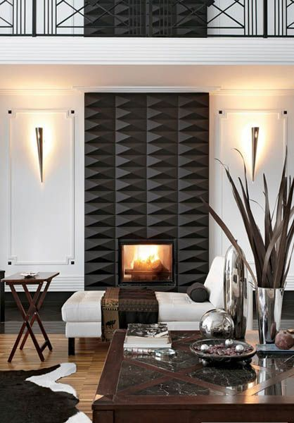 decorating with black and white #interior decorating #living room design #home designs