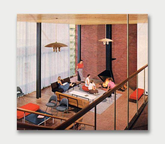 A great mid century modern living room--still looks good today.