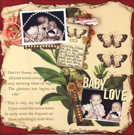 vintage baby layout... well done!