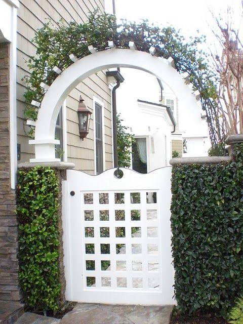 Gate, arbor, white,