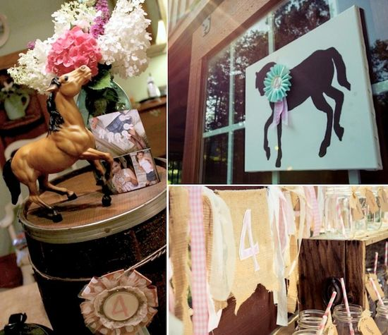 Horse Themed 4th Birthday Party with Such Cute Ideas via Kara's Party Ideas