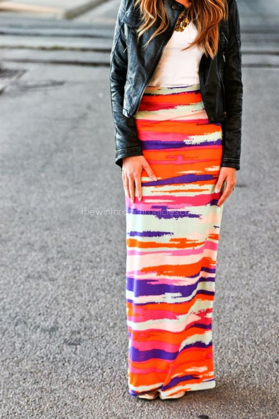 High Wasted Maxi Skirt Tutorial