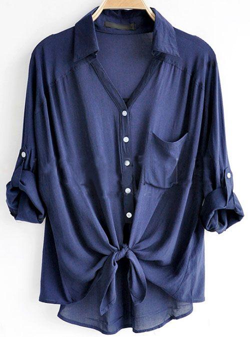 Navy Loose Shirt