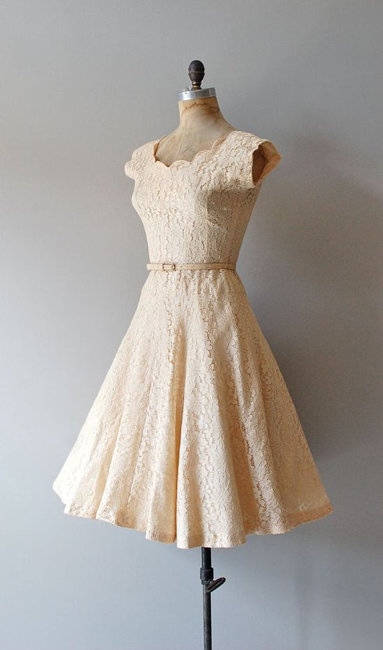 ? cream lace dress