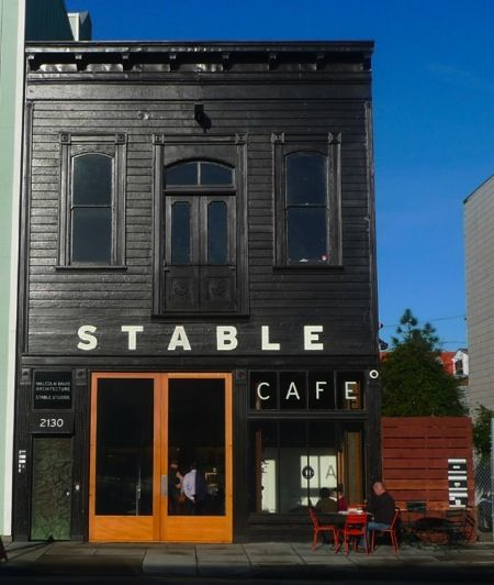 storefront of stable cafe.