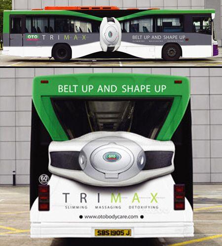 OTO Trimax Slim Bus Guerrilla Marketing