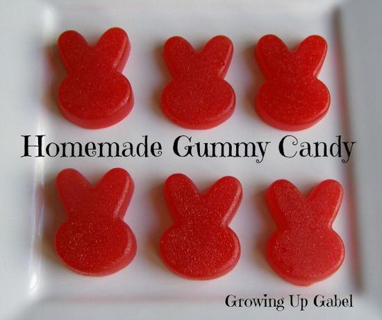 Homemade Gummy Candy from growingupgabel.com @thgabels #recipe