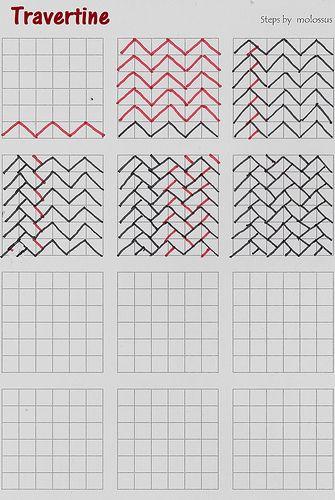 Travertine-tangle pattern