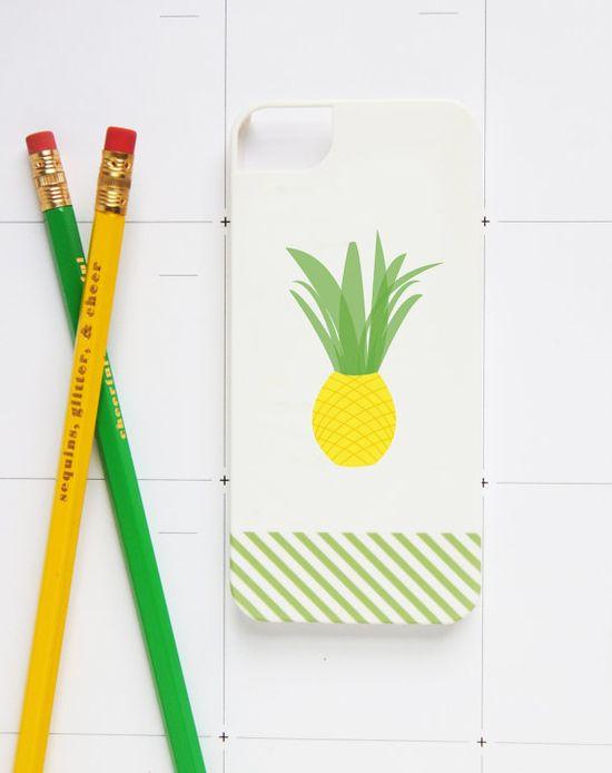 Studio DIY & Pencil Shavings Studio Pineapple iPhone Case!