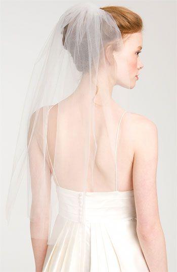 Nina 'Bernadet' Single Tier Veil @Nordstrom #WeddingSuite #Nordstrom