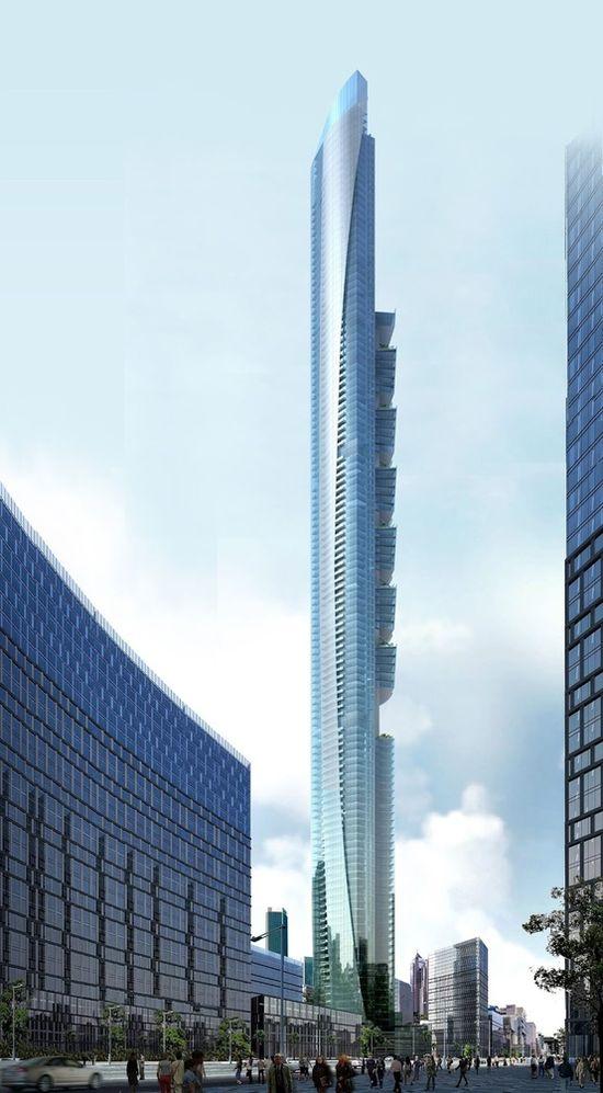 Pentominium Building, Dubai. J'en ai une photo prise moi même mais jamais aussi belle que celle-ci