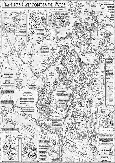 Paris Catacombs Map