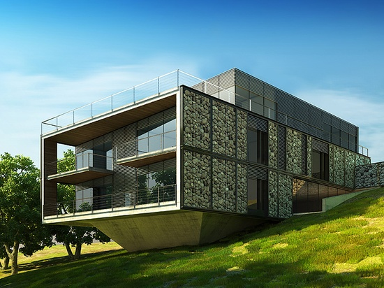 Gabion House in Varna, Bulgaria by STARH Stanislov Architects
