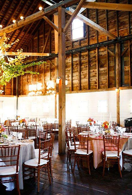 Rustic Reception Decor at a Farm Wedding