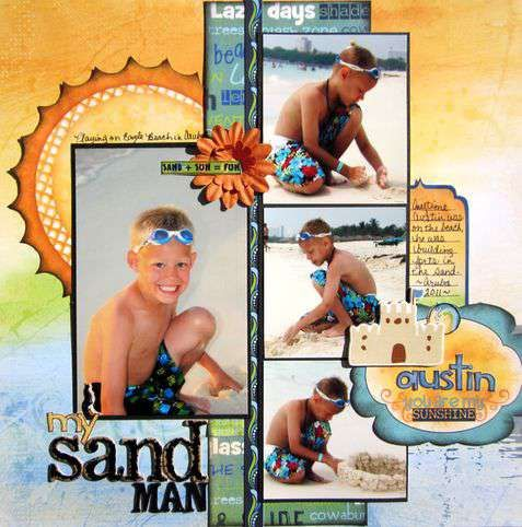 Bo Bunny Sand Man by Trisha Hill my BEAUTIFUL friend.
