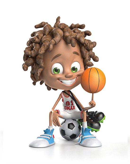 Cartoon Kid Character #kid #character #child #3D