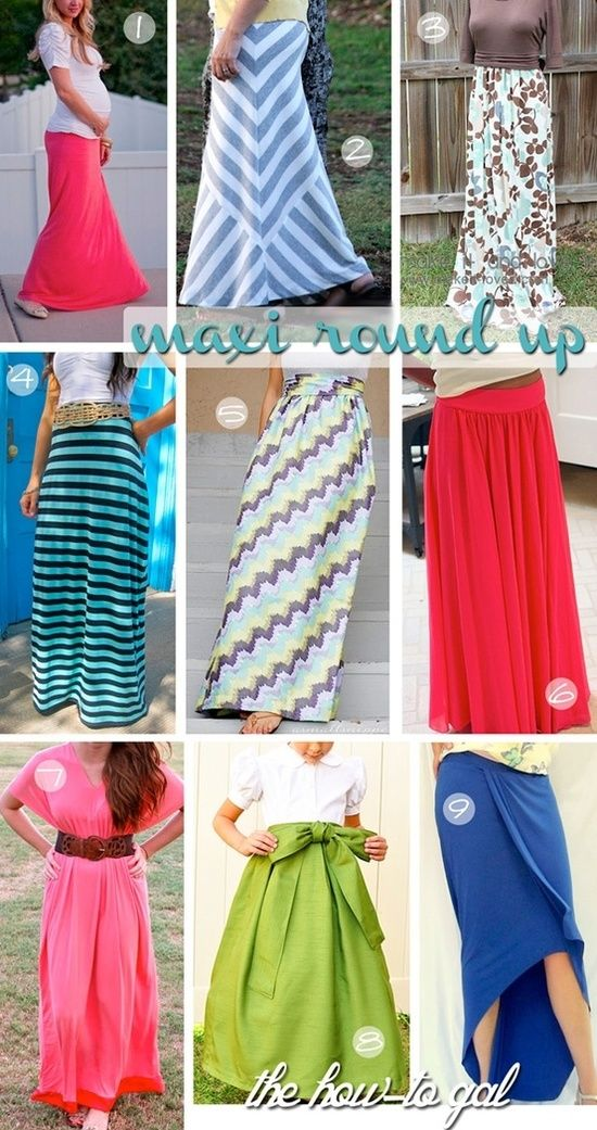 DIY maxi dress or skirt. Cute! @ DIY Home Ideas
