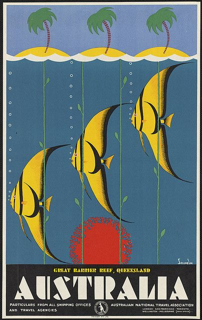 Australia tourism poster c.1930s by Gert Sellheim