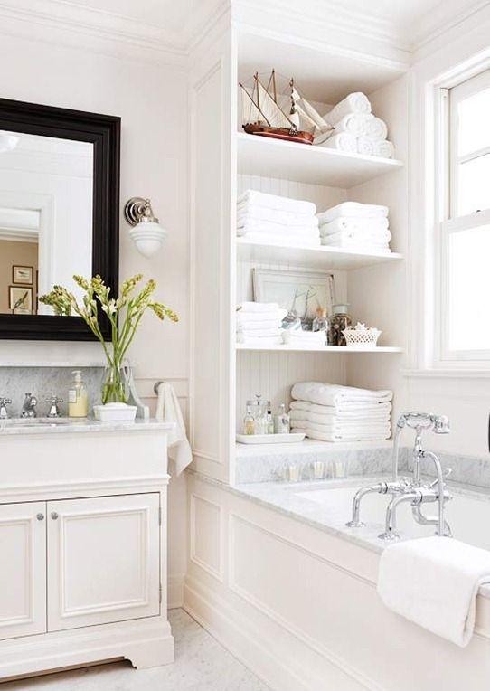 Built in Bath Shelving (style it)