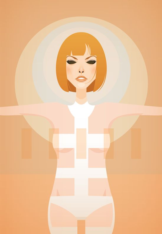 Leeloo by Stanley Chow, Fifth Element, minimalist movie poster