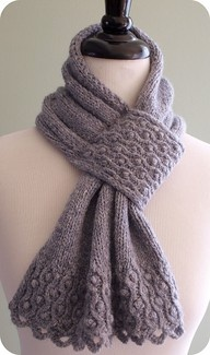 Love this keyhole scarf...from Ravelry