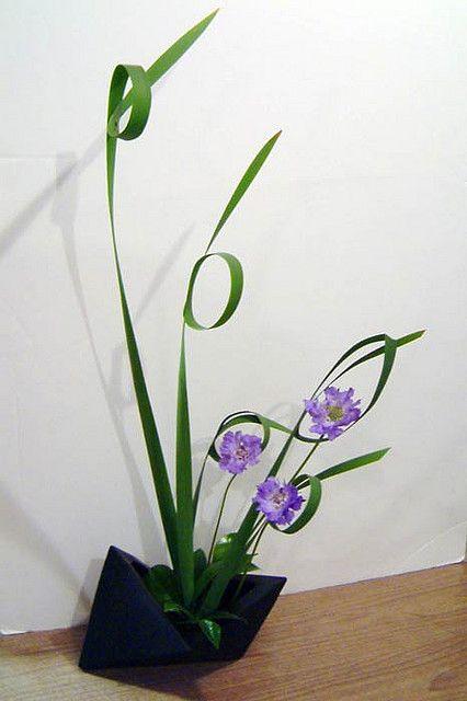 Japanese Flower Arrangement Ikebana Freestyle, my favorite type of arrangement.