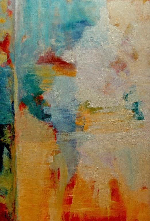 "Saatchi Online Artist: Ann Shogren; Oil, Painting ""Abstract Landscape / Blue Skies 4"""