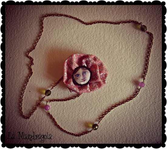 #necklace #handmade #fabric #flower