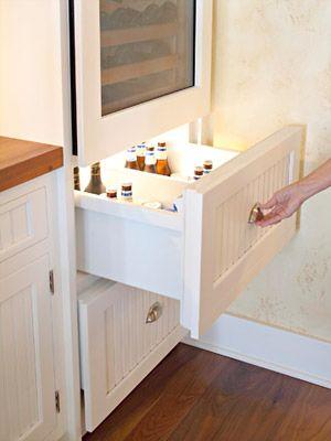 Beer drawer under wine cooler...