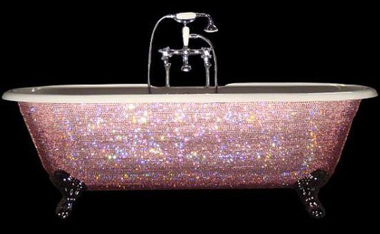 a sparkly bathtub!!!
