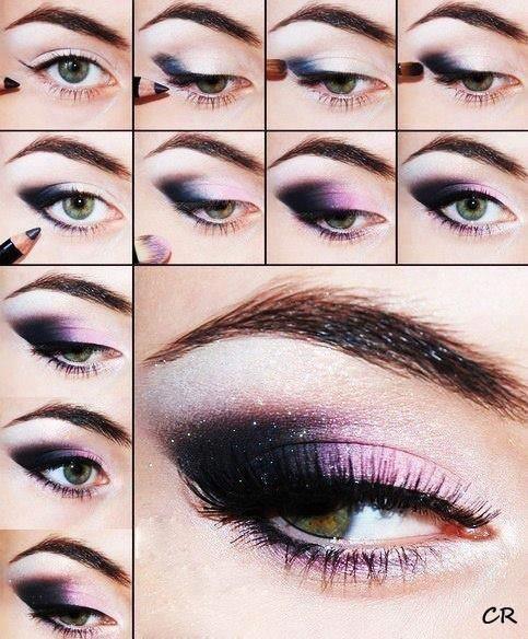 DIY Purple + Black Eye Makeup Tutorial