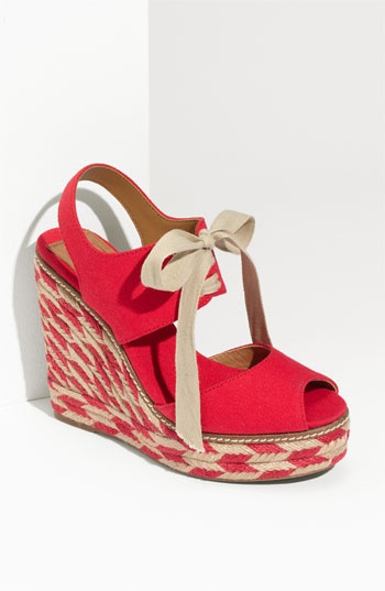Tory Burch 'Linley' High Wedge Espadrille