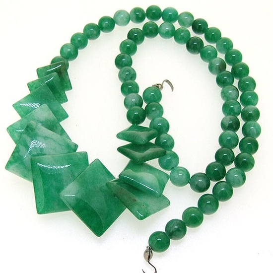 Loose Flower Jade Gemstone Beads Strand 6x16mm by backgard on Etsy, $4.25