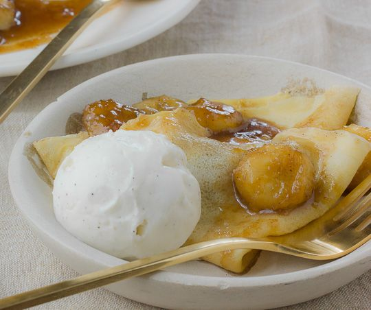Valentine's Recipe: Bananas Foster Crêpes Recipes from The Kitchn