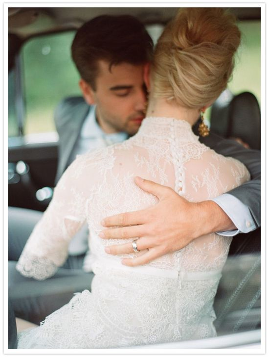 such a romantic image - love her hair too!