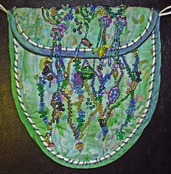 I ? beadwork . . . Beaded Purse ~By Textile Traveler