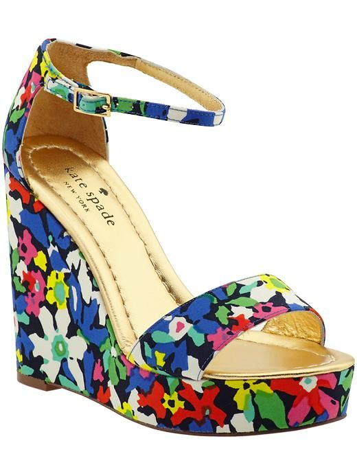 chaussures, sandales, fleurs, Kate Spade