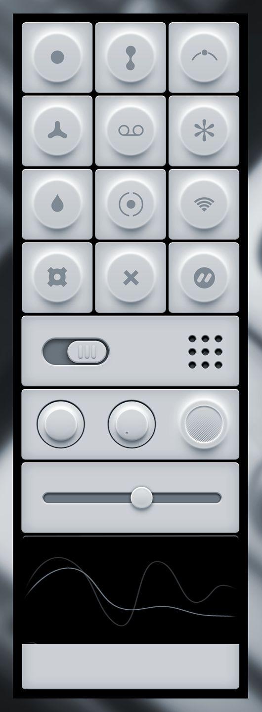 Minimal Light User Interface Freebie