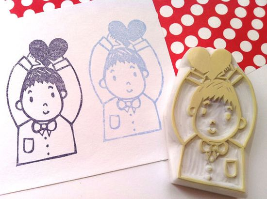 be mine rubber stamp hand carved rubber stamp  by talktothesun, $20.00