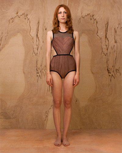 woodgrain swimsuit.
