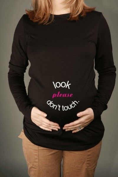 LOOK Please Dont TOUCH Black Long Sleeve by JellybeanApparel, $28.00