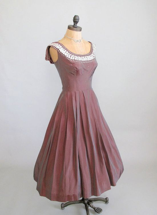 Vintage 1950s Dress : 50s New Look Party Dress